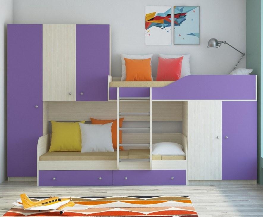 Дизайн встроенных кроватей